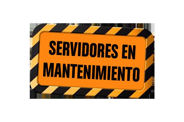 servidores en mantenimiento mini
