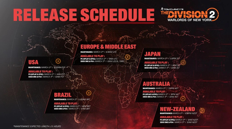 Calendario Mundial Señores de la Guerra